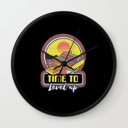Time To Level Up retro gaming console Wall Clock
