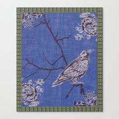Crow & Roses 1 Canvas Print