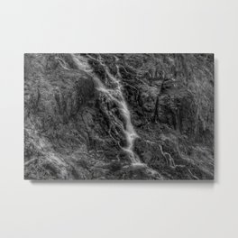 Waterfalls - Black And White Fine Art At Barron Gorge National Park Metal Print