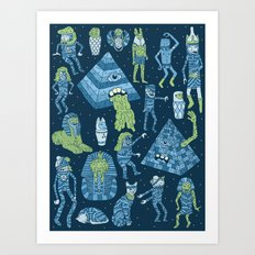 Wow! Mummies! Art Print