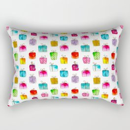 Lots of gifts || watercolor Rectangular Pillow