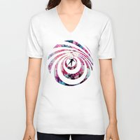 vertigo V-neck T-shirts featuring VERTIGO by Tia Hank