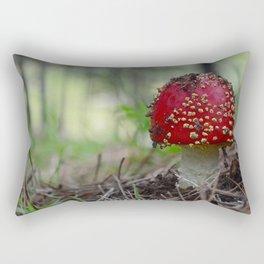 Amanita Mushroom Rectangular Pillow