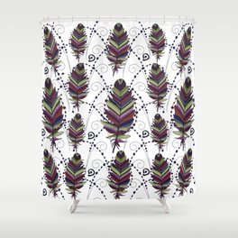 Dance of Feathers Shower Curtain