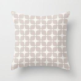 Mid Century Modern Star Pattern 731 Beige Throw Pillow
