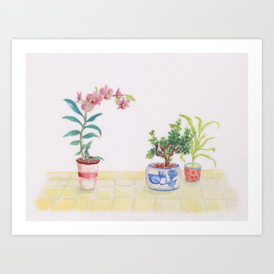 A flowery feeling Art Print