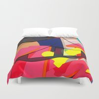 spongebob Duvet Covers featuring FAUX ABSTRACT SPONGEBOB  by FAUX NEW YORK