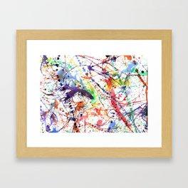 Watercolor Splatters Framed Art Print