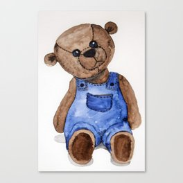 Thoughtful Teddy Canvas Print