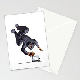 Ninja Making Toast Stationery Cards