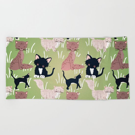 Cats Meadow Beach Towel
