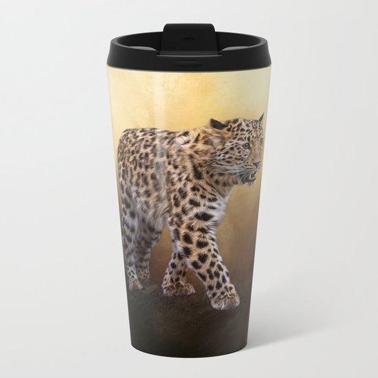 Amur leopard Metal Travel Mug