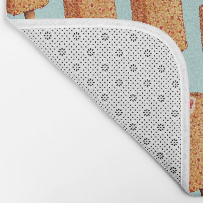 Popsicle Pattern- Strawberry Shortcake Bath Mat