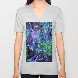 Abstract Prismatic Colors Unisex V-Neck
