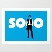 han solo Art Prints featuring Han Solo by Vector Vectoria
