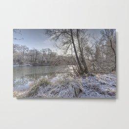 Sunrise across the Pond Metal Print