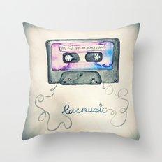 Mix Tape Throw Pillow