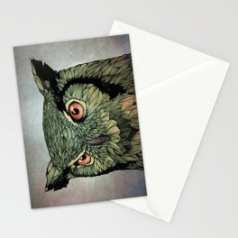 Owl - Red Eyes Stationery Cards