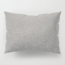Silver leather texture Pillow Sham
