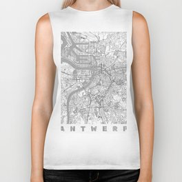 Antwerp Map Line Biker Tank