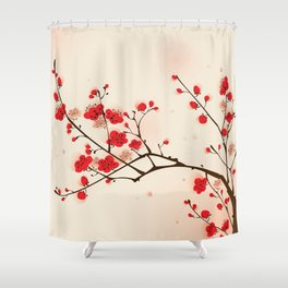 Oriental plum blossom in spring 009 Shower Curtain