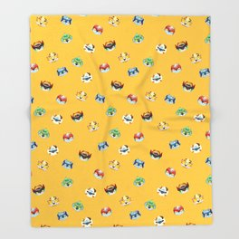 Halloween Pumpkin Robot Parfait Throw Blanket