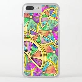 Rainbow Lemons Clear iPhone Case