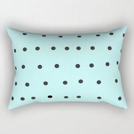 black polka dot mint Rectangular Pillow