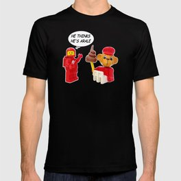"space lego meeting the ""arale wannabe"" monkey T-shirt"