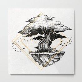Lonely Tree Inktober :: The Air Seems Restless Metal Print
