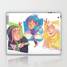 Blue Baby Robot Nerd Trash Prince Laptop & iPad Skin
