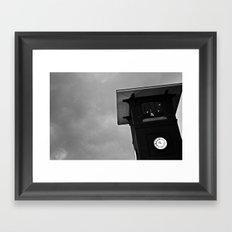 B&W Clock Tower Framed Art Print