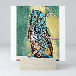 Screech Owl | Painting  Mini Art Print