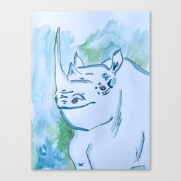 The Last White Rhino Canvas Print