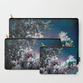 Flowers Purple & Teal Carry-All Pouch