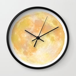 moon tapestry for window screening Wall Clock