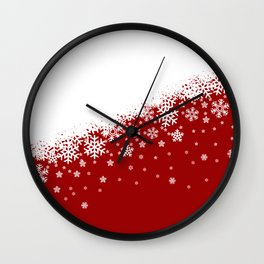 Xmas Snow 01 Wall Clock