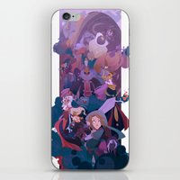 boss iPhone & iPod Skins featuring Boss Battle by Ann Marcellino