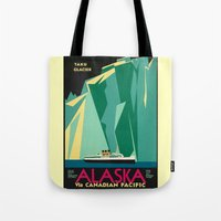 alaska Tote Bags featuring Alaska by Kathleen Casey