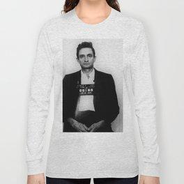 Johnny Cash Mug Shot Country Music Long Sleeve T-shirt