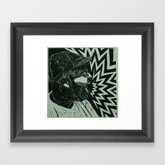 Untitled self portrait Framed Art Print