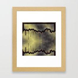 dark, sad, black, shiny, background, copy space, festive, golden, colored, subtly Framed Art Print