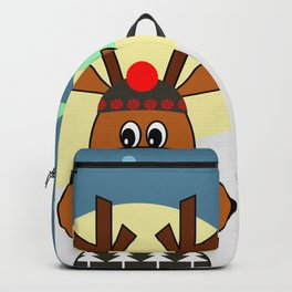 Reindeer in snow Backpack