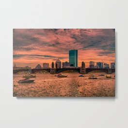 Longfellow Bridge , Boston, Massachusetts Metal Print