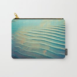 Ocean waves in teal Carry-All Pouch