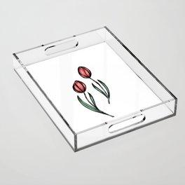 Tulips Acrylic Tray