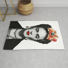 Mexican Beauty Portrait Artwork for Women Men and Kids Rug