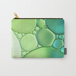Jade Ombre Bubbles Carry-All Pouch