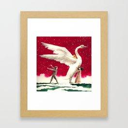 A clockwork swan Framed Art Print