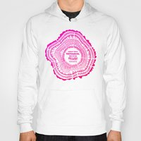 literary Hoodies featuring My List – Pink Ombré Ink by Cat Coquillette
